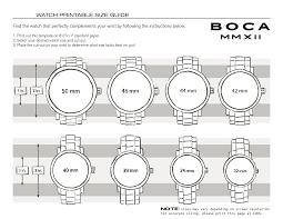 Watch Size Chart Mens Wrist Watch Size Chart Bedowntowndaytona Com