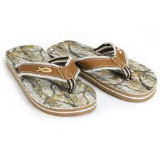 Gods Country Camo Footprints Flipflops At