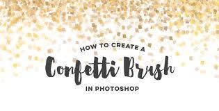 Confetti Brush Photoshop Create A Confetti Brush In Adobe Photoshop
