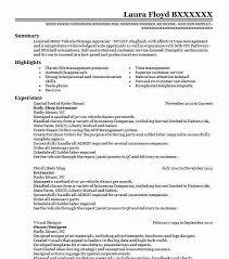 Body Shop Estimator Objectives Resume Objective Livecareer