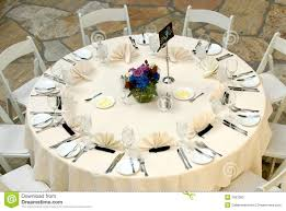 Luxurious Table Setting At A Wedding Reception Stock Photography
