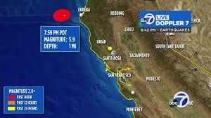 Geological survey scientists have called a tectonic time bomb. the earthquake hit near berkeley, california, as a magnitude 4.4. Eureka Earthquake Magnitude 5 9 Quake Strikes Off Northern California Coast Abc7 San Francisco