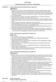 Human Resources Assistant Resume Sample Human Resources Administrative Assistant Resume Samples Velvet Jobs 14