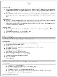 Chartered Accountant Resumes Good Cv Resume Sample For Experienced Chartered Accountant