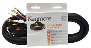 kenmore 99921 57001 4 prong 6' round dryer cord black shop 4 prong dryer cord installation diagram kenmore 99921 57001 4 prong 6' round dryer cord black shop your way online shopping & earn points on tools, appliances, electronics & more
