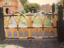 custom wood gates fencing made near