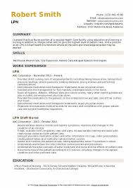 Lpn Charting Examples Lpn Resume Samples Qwikresume