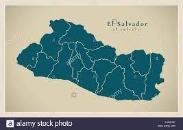 Moderne Karte - El Salvador SV Abbildung silhouette Stock-Vektorgrafik -  Alamy