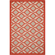 nourison alh03 red rec 3x4 aloha 3 x 4 rectangle synthetic
