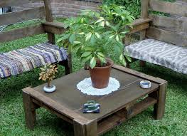 wooden pallet garden furniture. Handmade Wooden Pallet Garden Set Furniture