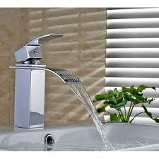 Sumerain <b>Deck Mount</b> Waterfall <b>Bathroom Sink</b> Faucet with Hoses ...