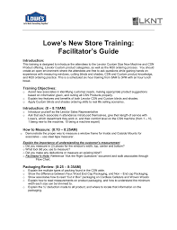 Levolor Color Chart Lowes New Store Training Facilitators Guide Introduction