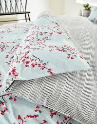 joules uk blossom print homeware duvet cover blossom pink