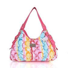 Coach Fashion Signature Medium Pink Shoulder Bags CEO