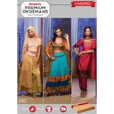 Simplicity Patterns Costumes New Simplicity Pattern EA48 Premium Print on Demand Misses' Belly