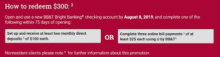 expired bb t 300 checking bonus