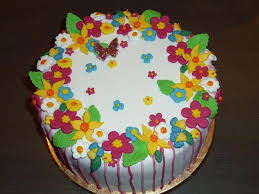 Birthday cake for flower ~ Birthday cake for flower ~ Flowers and butterflies st birthday cake with matching smash cake