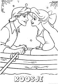 Roosje Ariel Kleine Zeemeermin Kus Naam Kleurplaat