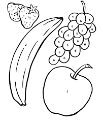 Printable Fruit Coloring Pages Vegetables And Fruits Coloring Pages
