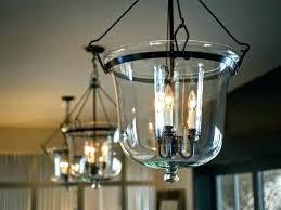 light black lantern chandelier glass bell jar pendant light polished indoor clear