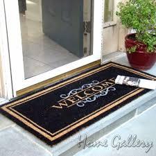 Accessories: Modern Doormats Stunning Extraordinary Double Door ...