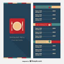 Restaurant Menus Layout Restaurant Menu Layout Design Free Vector