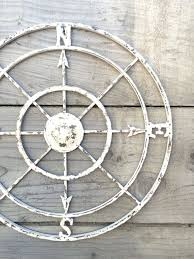 this elegant rustic large metal compass displays as a lovely piece of wall art in the home this beautiful piece is carefully hand painted in on rustic outdoor metal wall art with this elegant rustic large metal compass displays as a lovely piece