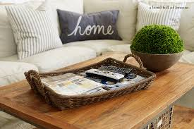 Decorating With Trays On Coffee Tables Coffee Table Tray Ideas Crate And Barrel Blog Regarding Prepare 60 31