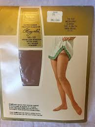 Nos Sears Cling Alon Thi Top Stockings Mesh Knit Classic Bare Beige Seamless Size A Style 9175 H 110