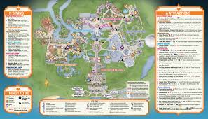 mickey s not so scary halloween party guide map photo of