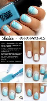 Easy Nail Design Steps 19 Step By Step Summer Nail Tutorials Wave Nails Creative