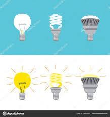 Historic Light Bulbs Light Bulb History Stock Vector Kakigori 248797518