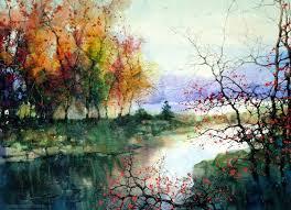watercolor painting landscape watercolor
