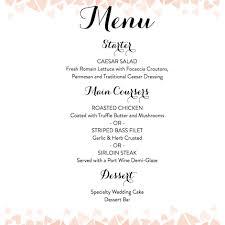 Download A Free Wedding Menu Template