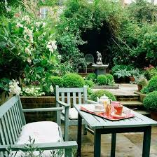 Alfresco country dining Wooden garden furniture Garden furniture