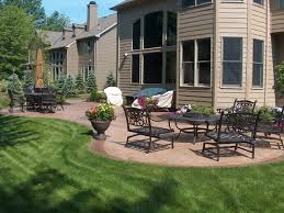 ashler slate stamped concrete patio traditional patio