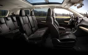 interior view of 2019 ascent in slate black cloth