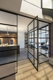steel frame doors. Interior Steel Frame Doors | Apartment With Glass Railings In Dark Door Clear .