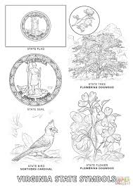 Virginia State Symbols Coloring Page Free Printable Coloring Pages