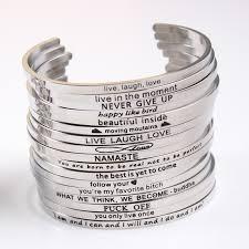 Inspirational Quotes Bracelets