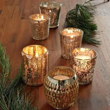 gold glass candle holders gold mercury glass candle holders