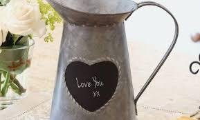 13th wedding anniversary tin heart message jug h13 x d13cm