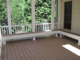 Built In Bench Built In Bench Seating In Screen Porch Screened Porches