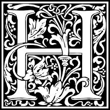Free Clipart William Morris Letter H Kuba