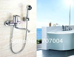 wall mounted faucet with sprayer impressive wall mount bathtub faucet with sprayer wall mounted bathtub faucet