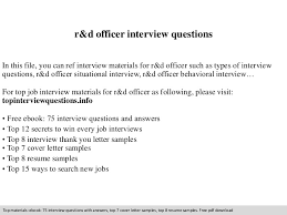 Sample Thank You Letter After Interview Stunning Rd Officer Interview Questions