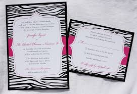 Pink Black And White Wedding Invitations
