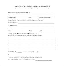 Reference Letter Template For Student Scholarship Com