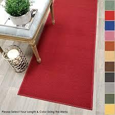 rubber backed carpet runners best of custom size red solid plain rubber backed non slip