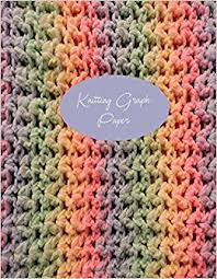 Knitting Design Graph Paper 40 Stitches 50 Rows 150 Pages